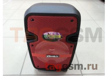 Колонка (OM-706) (Bluetooth+USB+MicroSD+FM+AUX+MIC+LED+дисплей+пульт) (черная)