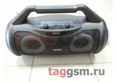 Колонка (ZQS-5303ch) (Bluetooth+USB+MicroSD+FM+AUX+MIC+дисплей+пульт) (черная)