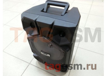 Колонка (EL8-08ch) (Bluetooth+USB+MicroSD+MIC+LED+пульт) (черная) Eltronic