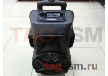 Колонка (ZQS-8101) (Bluetooth+USB+MicroSD+FM+AUX+MIC+дисплей+пульт) (черная)