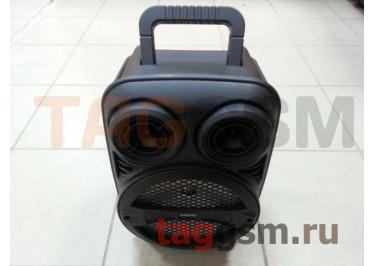 Колонка (ZQS-8107) (Bluetooth+USB+MicroSD+FM+LED+дисплей+пульт) (черная)
