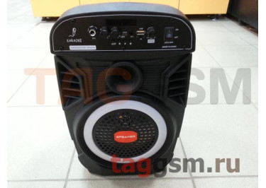 Колонка (OM-805) (Bluetooth+USB+MicroSD+FM+MIC+LED+пульт) (черная)