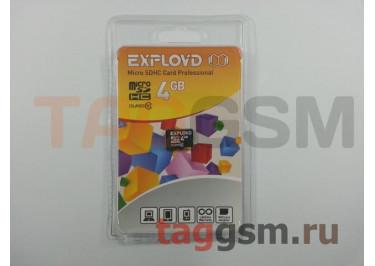 Micro SD 4Gb Exployd Class 10 без адаптера
