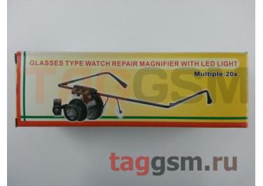 Лупа (очки) монокулярная с LED одсветкой 9892A