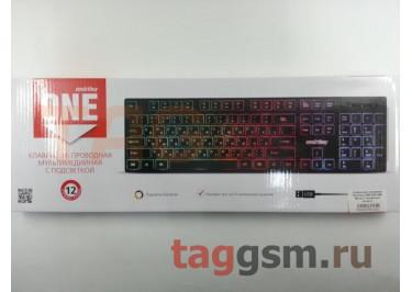Клавиатура проводная Smartbuy ONE 240 USB Black (с подсветкой клавиш)