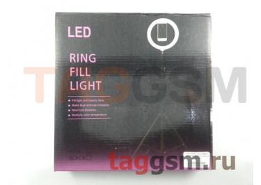 Кольцевая лампа NB260 с держателем для телефона (черная)