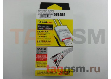 Провода питания для проверки iPhone 5S / 6 / 6 Plus / 6S / 6S Plus / 7 / 7 Plus / 8 / 8 Plus / X / XR / XS / XS Max / 11 / 11 Pro / 11 Pro Max / 12 mini / 12 / 12 Pro / 12 Pro Max / Samsung (GS308 Pro)