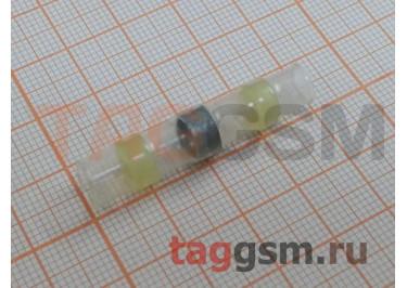 Соединитель термоусаживаемый под пайку (4-6кв.мм, длина 40мм) (желтый) Rexant