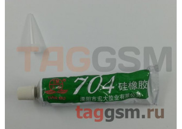 Клей герметик Tian Mu 704 от -60 до +250 С с дозатором (45г) (термостойкий, силиконовый) белый