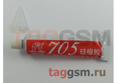 Клей герметик Tian Mu 705 от -50 до +200 С с дозатором (45г) (водостойкий, силиконовый) прозрачный