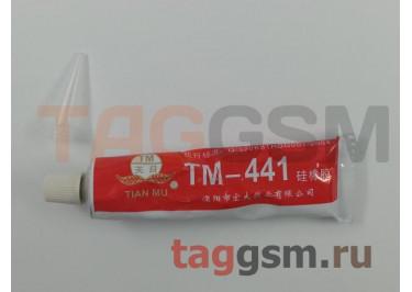 Клей герметик Tian Mu TM-441 от -60 до +300 С с дозатором (45г) (термостойкий, силиконовый) красный