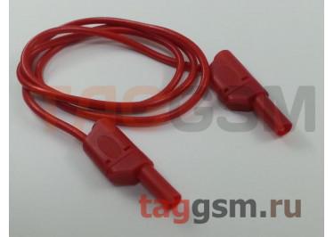 Кабель для мультиметра Cleqee P1050 красный (штекер 4мм, 1000В, 15А)