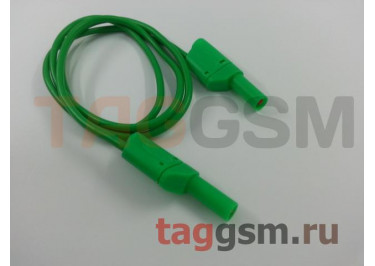 Кабель для мультиметра Cleqee P1050 зеленый (штекер 4мм, 1000В, 15А)