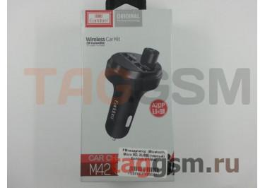 FM-модулятор  (Bluetooth, Micro SD, 2USB) (черный) Earldom ET-M42