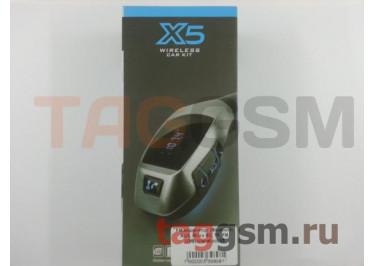 FM-модулятор  (Bluetooth, AUX, Micro SD, TF, FM, USB) (серебро) X5