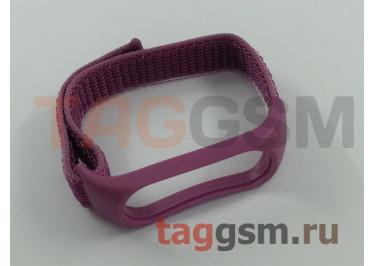Xiaomi Браслет для Xiaomi Mi Band 3 / 4 (Silicone Nylon loop) (фиолетовый)