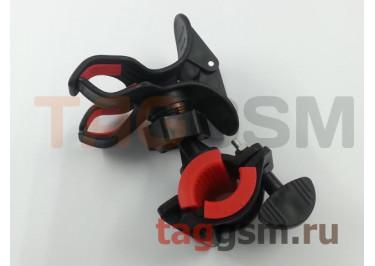 Велосипедный держатель (пластик, на руль, шарнир) (красный) М09