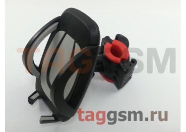 Велосипедный держатель (пластик, на руль, шарнир) (серый) М02