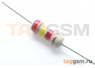 Резистор постоянный 0,25Вт 2,4 кОм 5% (CF-0,25W-2,4K)