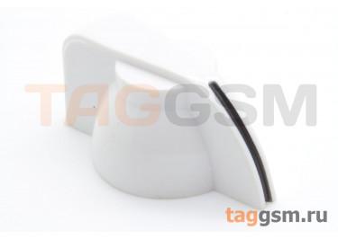 K7-1 / W Ручка пластиковая 19,5x13,5мм под ось 6,35мм + винт (Белый)