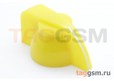 K7-1 / Y Ручка пластиковая 19,5x13,5мм под ось 6,35мм + винт (Желтый)