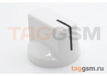 KN-19 / W Ручка пластиковая 19x15мм под ось 6,35мм + винт (Белый)