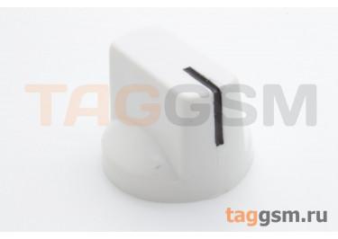KN-19-18T / W Ручка пластиковая 19x15мм под ось 6мм 18T (Белый)