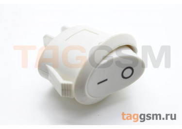 KCD-1220 2P Переключатель на панель овальный белый ON-OFF SPST 250А 6А (20,6х13,2мм) [MRS-101-10C3-W / W]