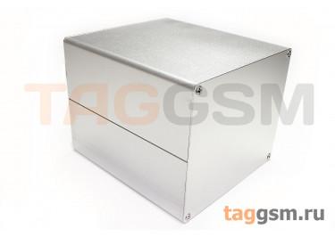 AK-C-C38 Корпус алюминиевый настольный серебристый 103x120x130мм (0,475кг)