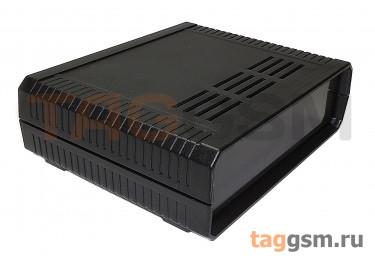 AK-D-05 Корпус пластиковый настольный черный 160x130x48мм (0,207кг)