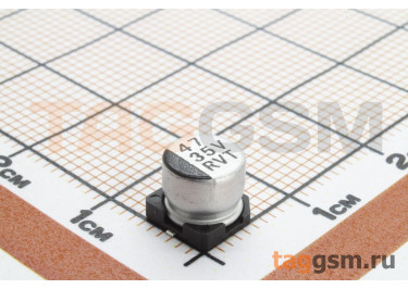 Конденсатор электролитический SMD 47 мкФ 35В 20% (6,3х5,4мм)