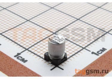 Конденсатор электролитический SMD 4,7 мкФ 25В 20% (4х5,4мм)