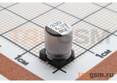 Конденсатор электролитический SMD 330 мкФ 6,3В 20% (6,3х7,7мм)