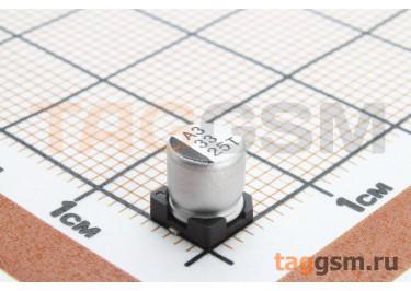 Конденсатор электролитический SMD 33 мкФ 25В 20% (5х5,4мм)