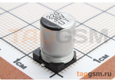 Конденсатор электролитический SMD 220 мкФ 35В 20% (8х10,5мм)