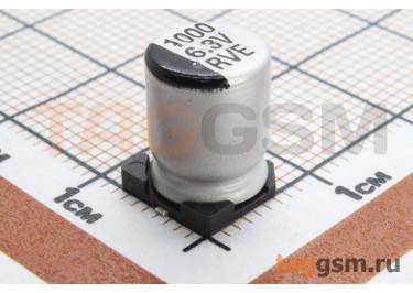 Конденсатор электролитический SMD 1000 мкФ 6,3В 20% (8х10,5мм)