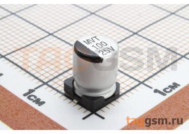 Конденсатор электролитический SMD 100 мкФ 25В 20% (6,3х7,7мм)