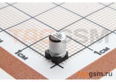 Конденсатор электролитический SMD 0,1 мкФ 50В 20% (4х5,4мм)