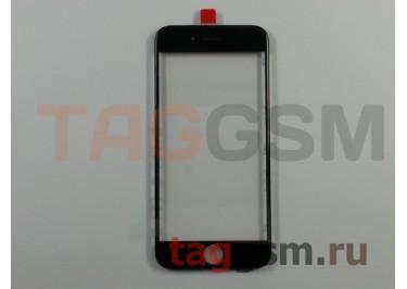 Стекло + OCA + рамка для iPhone 6 (черный), (олеофобное покрытие) ААА