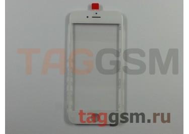 Стекло + OCA + рамка для iPhone 6S (белый), (олеофобное покрытие) ААА