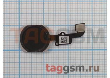 """Кнопка (механизм) """"Home"""" для iPhone 6 / 6 Plus в сборе с толкателем и шлейфом (черный), ориг"""