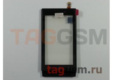 Тачскрин для Sony Xperia Sola (MT27i) (черный) + рамка, ориг