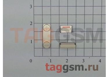 Кнопка (толкатель) для iPhone 5S (mute, on / off, volume) (золото)