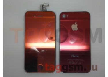 Дисплей для iPhone 4 + тачскрин + задняя крышка +кнопка Home (золото)