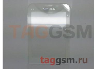 стекло корпуса Nokia C5-00 (белый) ориг