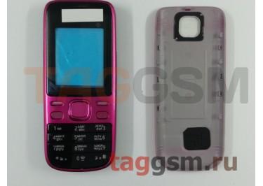 Корпус Nokia 2690 со средней частью + клавиатура (розовый)