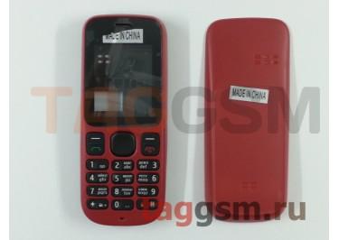 Корпус Nokia 100 со средней частью + клавиатура (красный)
