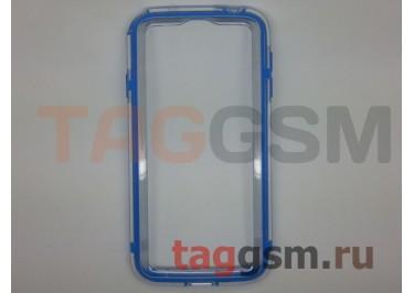 Бампер Vser для Samsung GT-I9500 Galaxy S IV (синий с прозрачной вставкой)