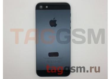Задняя крышка для iPhone 5 в сборе + кнопка включения + боковые кнопки (черный), ОРИГ100%