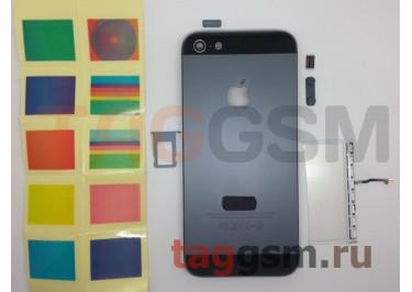 Задняя крышка для iPhone 5 (черный), со светящимся яблоком